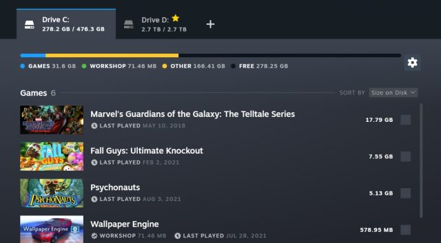 Steam Gives Storage Manager and Download Page a Much-Needed Refresh